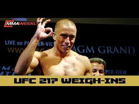 UFC 217 Official Weigh-Ins: Bisping, GSP, Jedrzejczyk, Namajunas, Garbrandt and Dillashaw