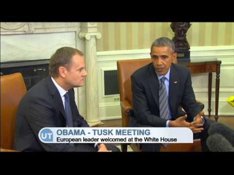 EU and US United Over Russia: Obama and Tusk stress unity against Russian Ukraine aggression