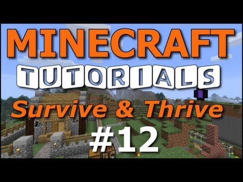 Minecraft Tutorials - E12 Cozy Cottage - Part 2 (Survive and Thrive II)