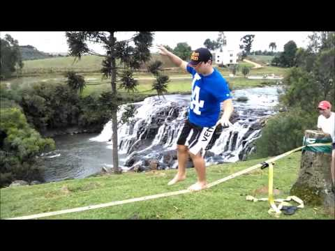 Slackline Cachoeira Rio dos Patos