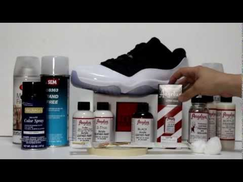 How to paint Patent Leather Jordan XI KOS KINGOFSNEAKERS.COM