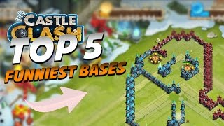 Funniest Bases in Castle Clash Ever! (HAHA)