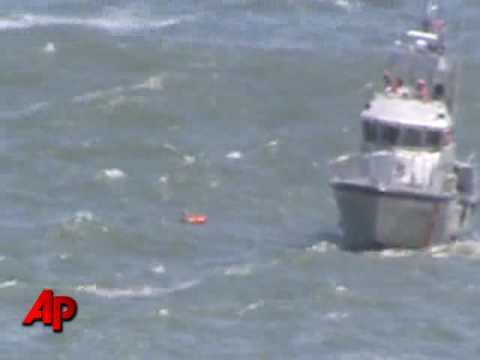 Raw Video: Dramatic Rescue From Hurricane Wave