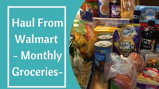 Haul From Walmart - Monthly Groceries-