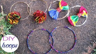 DIY HOOP earrings African Print-Ankara