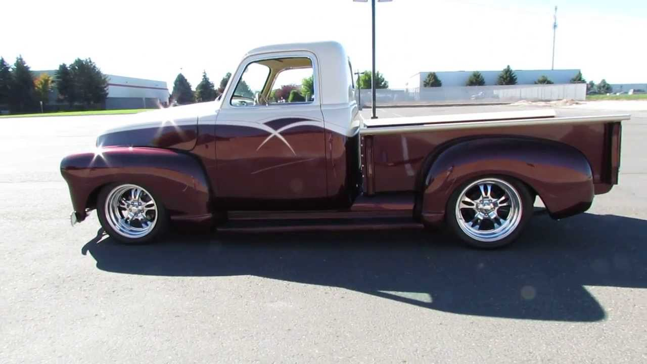 1952 Chevrolet 3100 Custom Pickup Youtube