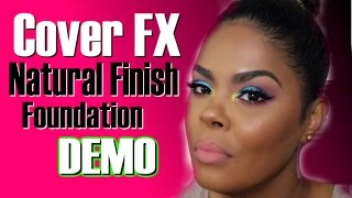 Cover FX Natural Finish Foundation Review & Demo | Music By Big FOE