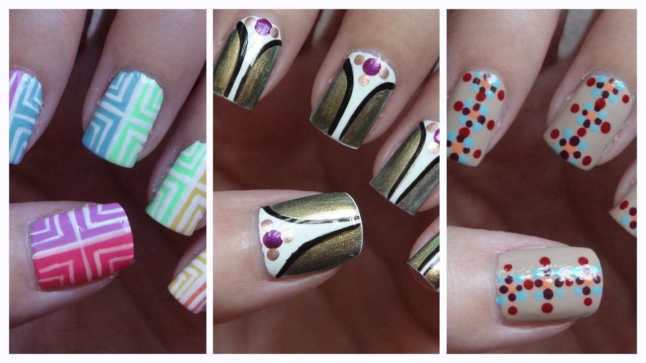 Simple Quick Nail Designs ~ Simple easy nail art