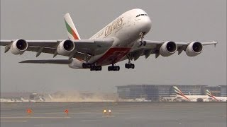NEW Airbus A380 Taxi & Takeoff - Emirates - HD