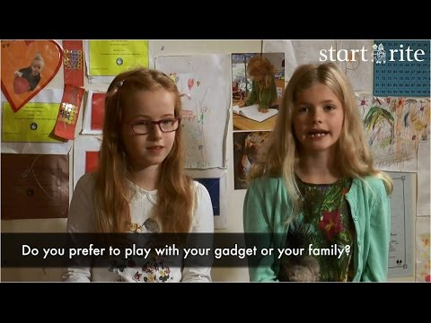 Start-rite asks if children prefer playing with gadgets or family