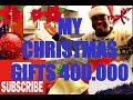 MY Christmas Gifts !! 400.000 SUBSCRIBER   BIG THANK YOU FOR SUPPORT 2018  Chef Ricardo Cooking