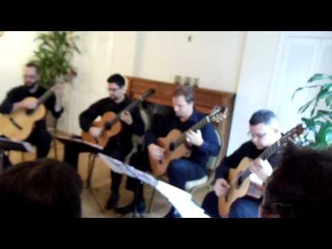 The Texas Guitar Quartet performing