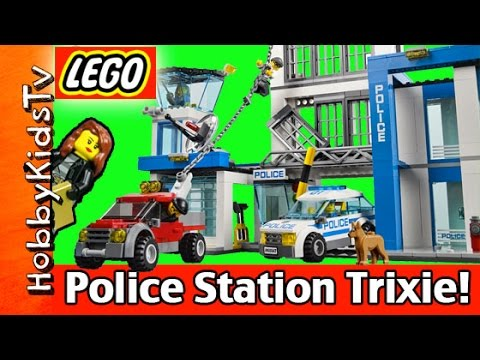 LEGO City Police 60047 Police Station Build With Trixie Cops and Robbers HobbyKidsTV