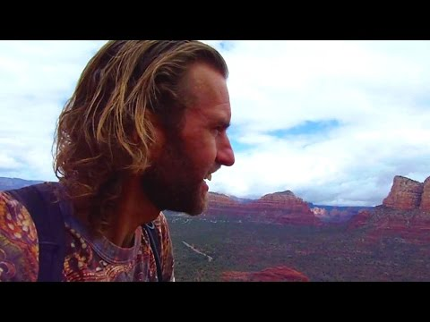 Hiking in Sedona, Arizona to the top of Bell Rock