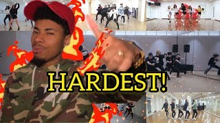 THE REALLY HARDEST CHOREOGRAPHIES ON K-POP(REACTION)