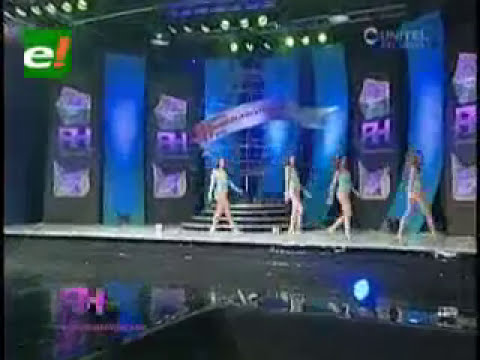 Candidatas a Reina Hispanoamericana 2012 en traje de baño
