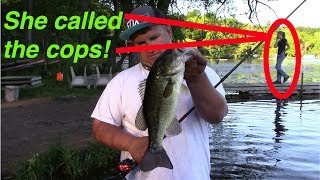 SHE CALLED THE COPS | BASS FISHING IN A SEWER