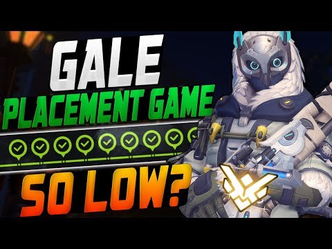 GALE BEST ANA FINAL PLACEMENT GAME! SO LOW? - 4*32? [ OVERWATCH SEASON 8 TOP 500 ]