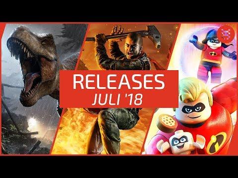 Neue SPIELE im JULI 2018 für PS4, Xbox One, PC, Nintendo Switch und 3DS
