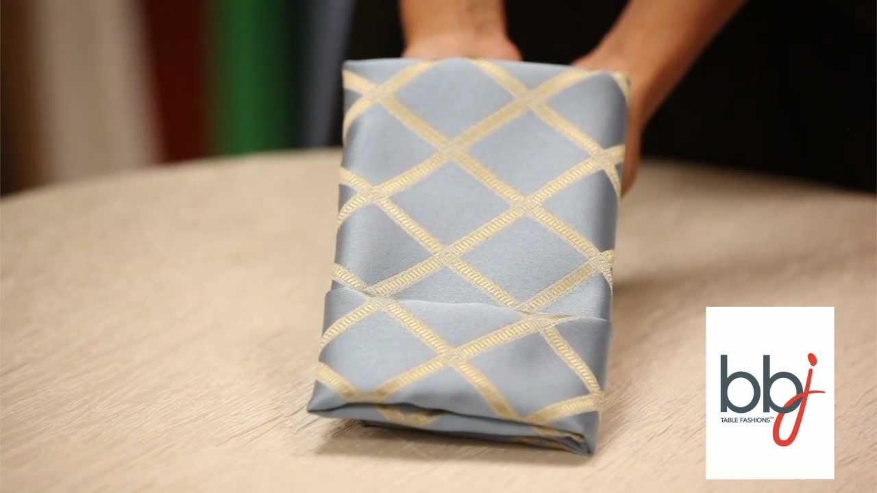 BBJ Linen How To Fold A Napkin Linen Rental Menu YouTube