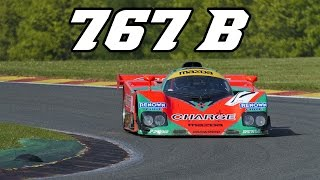 Mazda 767B screaming 4 rotor at Spa Classic 2014 (incl. idle + revving)