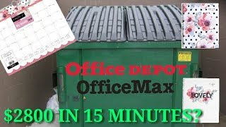HOW TO MAKE $2800 IN 15 MINUTES! (HUGE Office Max DUMPSTER DIVING haul!)