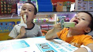 Bé Đức và Bé Su Hào đi mua Kem ♥ Trò chơi trẻ em ăn kem ♥