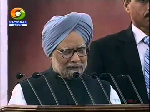 Prime Minister of India, Dr  Manmohan Singh's Address To The Nation On Independence Day Part 1