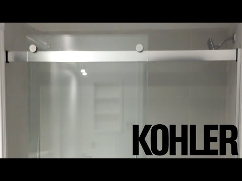 Kohler Levity(r) 60 inch - 1/4 inch glass bathtub door UNBOXING - R706000-L-SH