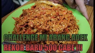 Rekor Baru 500 Cabe Abang Adek  Usus Buntu   Challenge