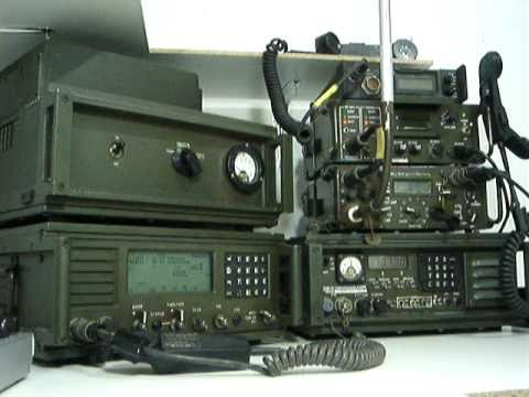 XE1XNP Ham Shack With Military Radios Datron RT7000, RT100/MP, PRC1099A