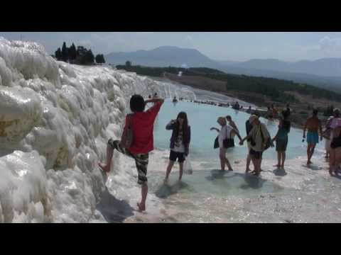 Pamukkale and Hierapolis, UNESCO World Heritage Site, Turkey