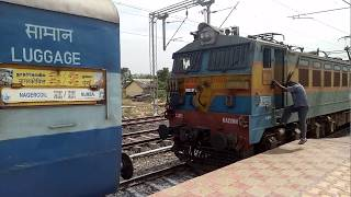 Nagercoil Express - Changing from Diesel to Electric Loco at Daund Jn
