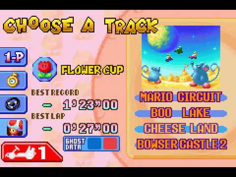 Mario Kart - Super Circuit - Playing some tracks(GBA) - User video