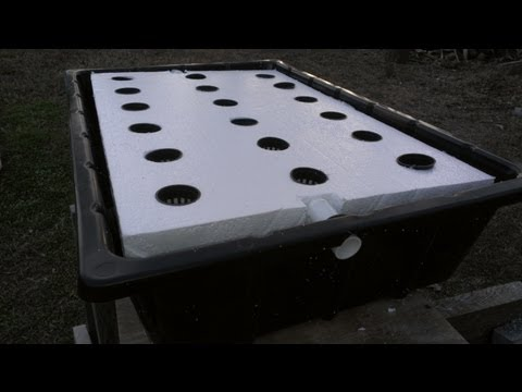 Aquaponic systems Floating raft construction