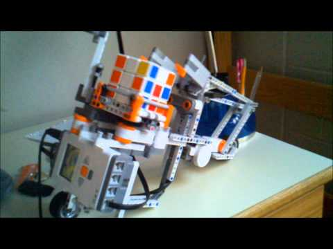 Watch custom rubiks robot