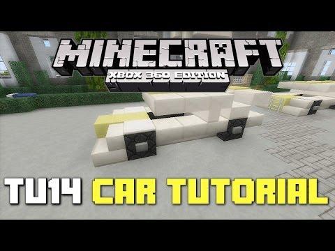 Minecraft Xbox 360: TU14 Sports Car Tutorial! (New TU14 Design!)