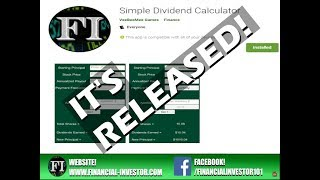 Financial Investor - Google Play App Released! - Simple Dividend Calculator
