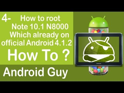 How to root Galaxy Note 10.1 N8000 on Android 4.1.2 Jelly Bean using CF Auto root ?