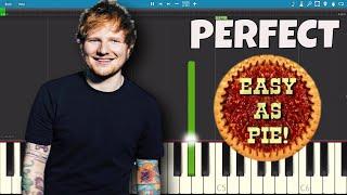 Download Lagu How to play Perfect on piano - EASY Piano Tutorial - Ed Sheeran Gratis STAFABAND