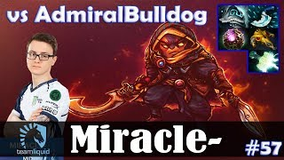 Miracle - Ember Spirit MID | vs AdmiralBulldog (Lone Druid) | Dota 2 Pro MMR Gameplay #57
