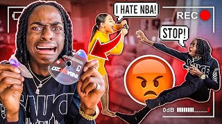 ANGRY GIRLFRIEND BREAKS BOYFRIEND'S NBA 2K20!!😱😂