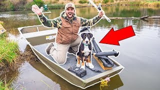 Taking My PUPPY Fishing for the FIRST TIME!!!