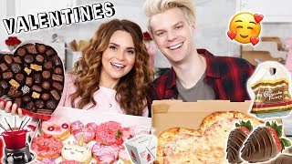 OUR LOVE STORY! - Valentines Day Mukbang w/ My Boyfriend!