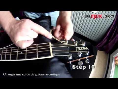 Changer une corde de guitare - change a guitar string