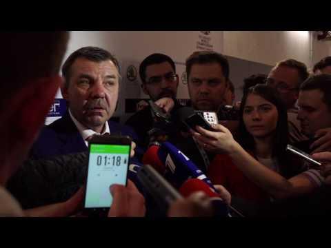 Олег Знарок после поражения от США. 16 мая