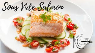 SOUS VIDE SALMON WITH SAUCE VIERGE | stevescooking