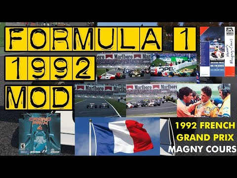 GP4 - 1992 French Grand Prix Lap 1-5 of 72, Circuit Never Magny-Cours, France.