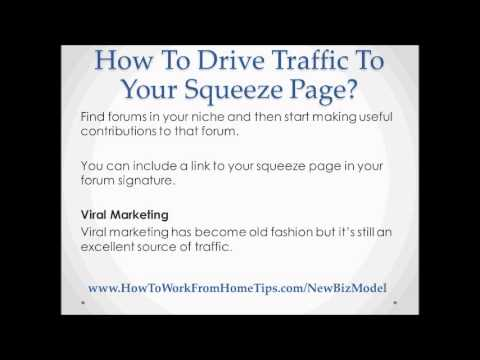 How To Drive Traffic To Your Squeeze Page