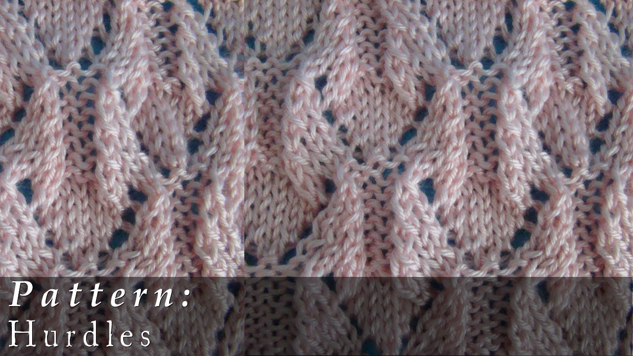 Pattern Hurdles Knit - YouTube